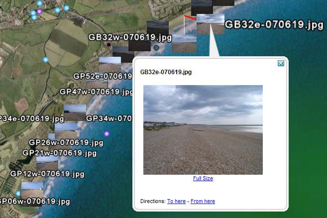 Google Earth screenshot of Pevensey Photos