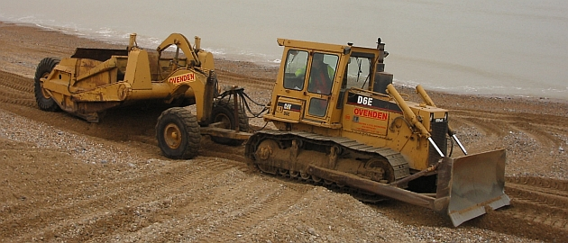 Bulldozer and box